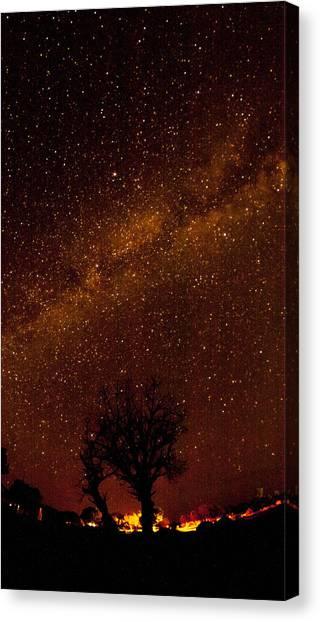 Milky Way Tree Canvas Print