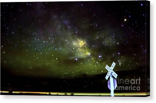 Milkyway  Crossing Blur Canvas Print