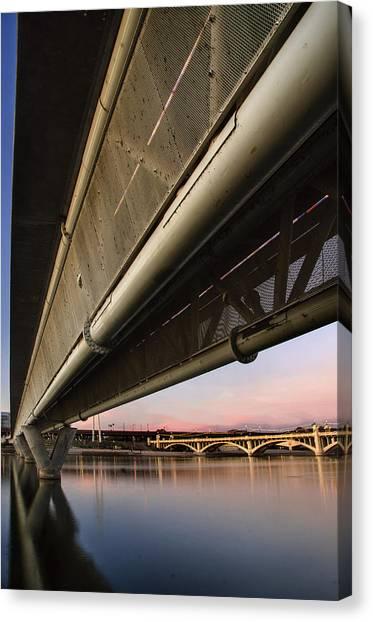 Arizona State University Asu Tempe Canvas Print - Mill Avenue Bridge Abstract by Dave Dilli