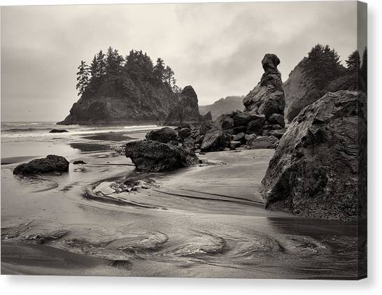 Mill Creek And Pewetole Island At Trinidad State Beach Canvas Print