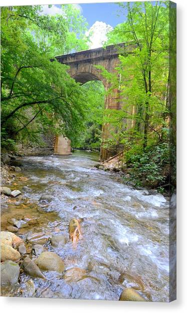 Mill Creek Viaduct Canvas Print by Bob Jackson