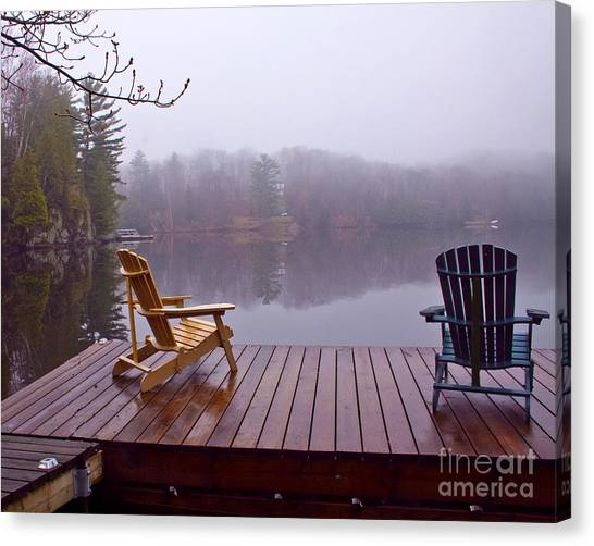 Mill Lake Mist Canvas Print