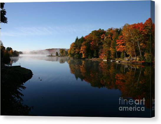 Mill Lake Thanksgiving Canvas Print