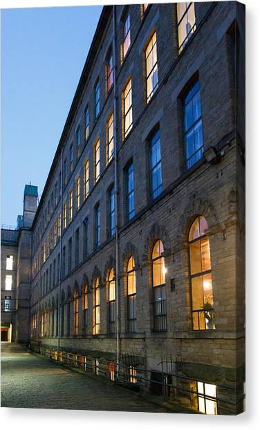 Canvas Print featuring the photograph Mill Perspective by Paul Indigo