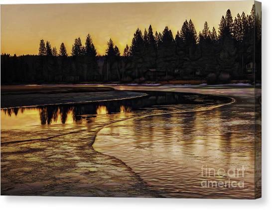 Mill Pond Freeze-d Canvas Print