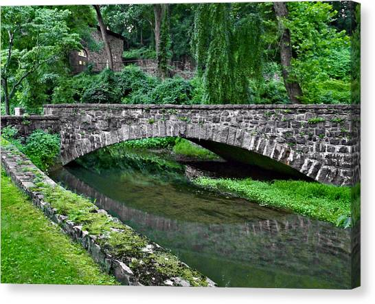 Mill Race Bridge. Hagley Museum. Canvas Print