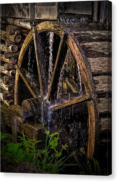 Mill Wheel Canvas Print by Dave Bosse