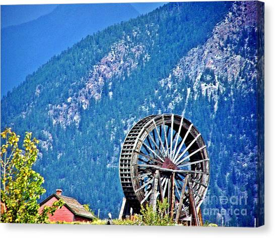 Mill Wheel In The Mountains Canvas Print