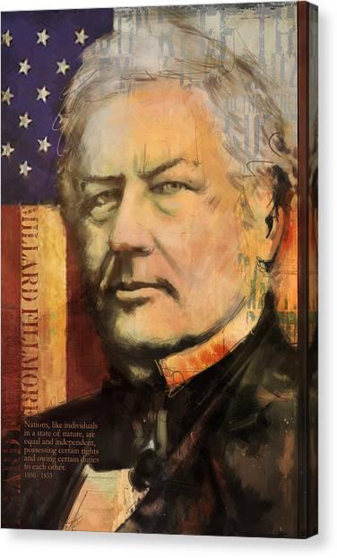 President Jefferson Canvas Print - Millard Fillmore by Corporate Art Task Force