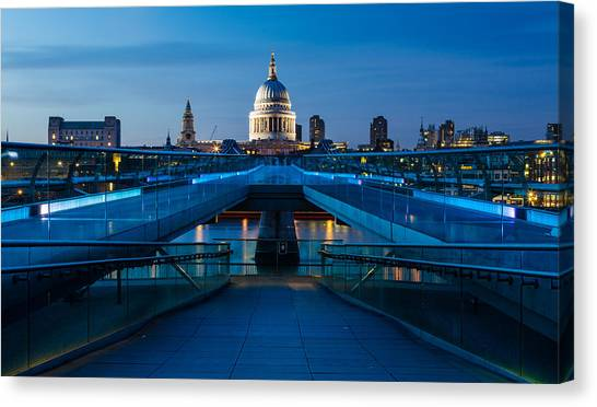 Millenium Bridge Blue Hour II Canvas Print