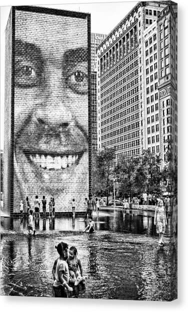 Millenium Park Smile Canvas Print
