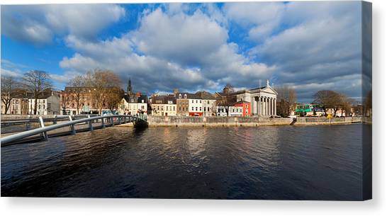 House Of Worship Canvas Print - Millennium Bridge Over The River Lee by Panoramic Images