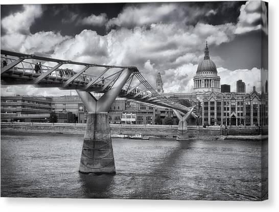 Millennium Bridge - St Pauls Cathedral Canvas Print