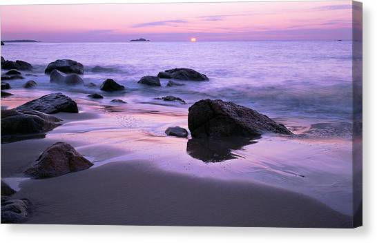 Millennium Sunrise Singing Beach Canvas Print
