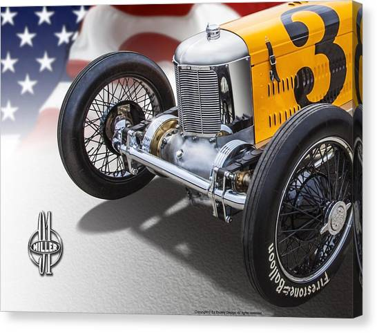 Miller 91 With Badge Canvas Print