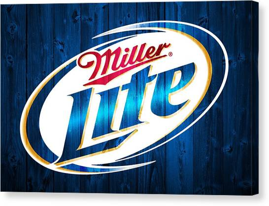 Miller Lite Barn Door Canvas Print