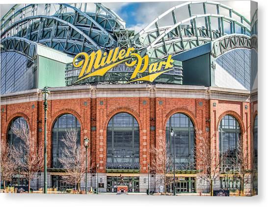 Milwaukee Brewers Canvas Print - Miller Park Milwaukee by Jarrod Erbe