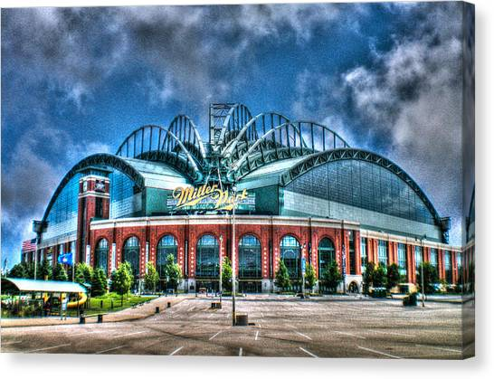 Milwaukee Brewers Canvas Print - Miller Park  by Tommy Anderson