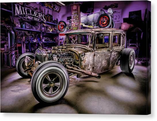 Custom Hotrod Canvas Print - Millers Chop Shop 1929 Ford Murray by Yo Pedro