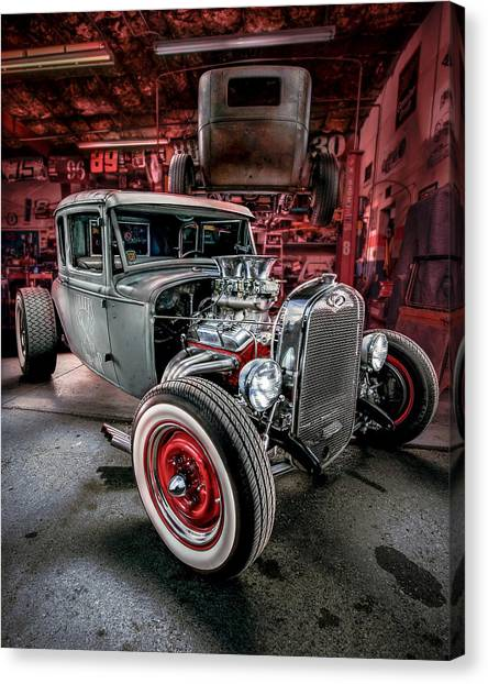 Custom Hotrod Canvas Print - Millers Chop Shop 1931 Ford Coupe by Yo Pedro