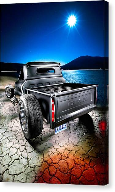 Vintage Chevy Truck Canvas Print - Millers Chop Shop 1964 Gmc Easy As 123 by Yo Pedro