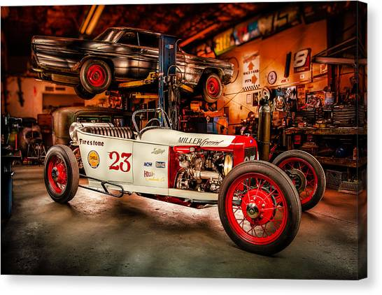 Toyota Canvas Print - Millers Chop Shop Track T Toyota by Yo Pedro