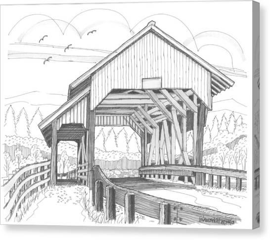 Miller's Run Covered Bridge Canvas Print