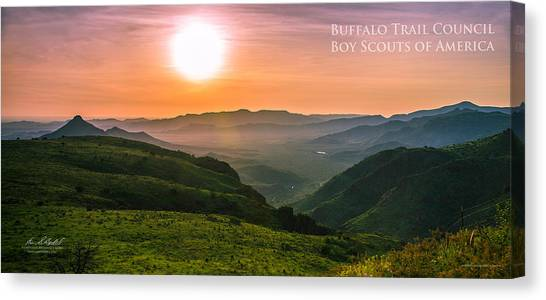 Boy Scouts Canvas Print - Million Dollar View - Pano by Aaron Bedell