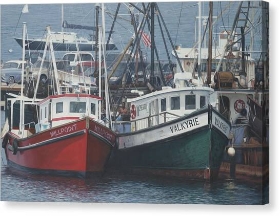 Marthas Vineyard Canvas Print - Millpoint And Valkyrie Menemsha Martha's Vineyard by Julia O'Malley-Keyes