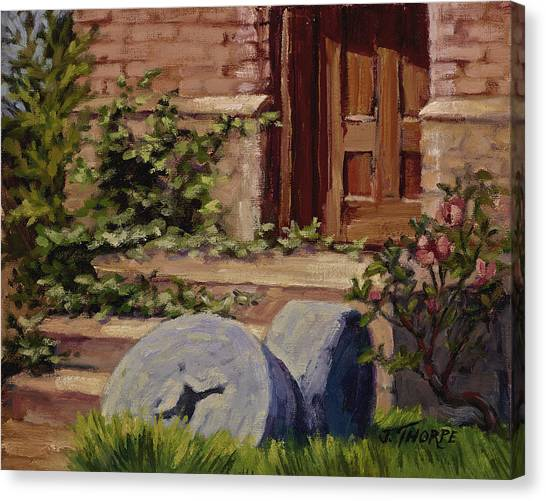 Millstones And Roses Canvas Print