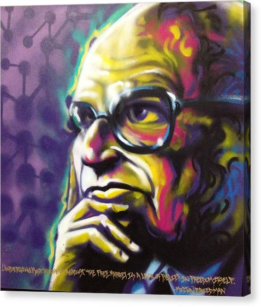 Libertarian Canvas Print - Milton Friedman  by Defstar