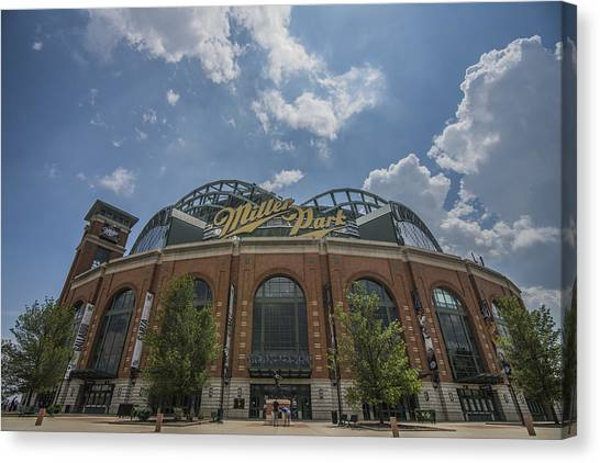 Milwaukee Brewers Canvas Print - Milwaukee Brewers Miller Park 4 by David Haskett