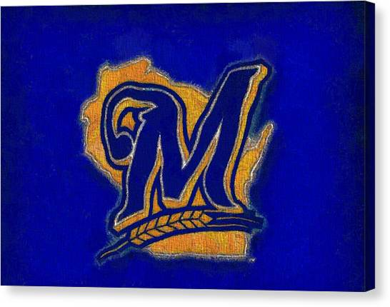 Milwaukee Brewers Canvas Print - Milwaukee Brewers by Dan Sproul