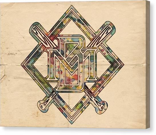 Milwaukee Brewers Canvas Print - Milwaukee Brewers Logo Art by Florian Rodarte