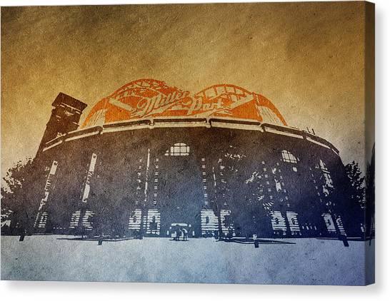 Milwaukee Brewers Canvas Print - Milwaukee Brewers Miller Park  4  Art  9291 by David Haskett II