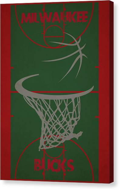 Milwaukee Bucks Canvas Print - Milwaukee Bucks Court by Joe Hamilton