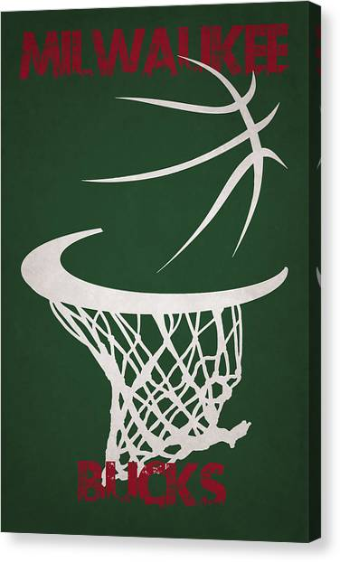 Milwaukee Bucks Canvas Print - Milwaukee Bucks Hoop by Joe Hamilton