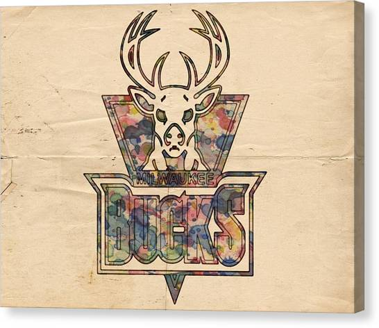 Milwaukee Bucks Canvas Print - Milwaukee Bucks Poster Art by Florian Rodarte