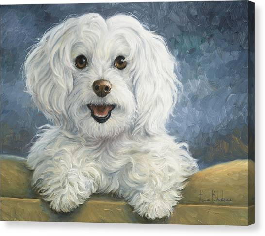Indoors Canvas Print - Mimi by Lucie Bilodeau