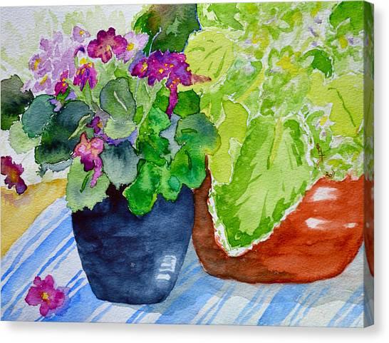 Mimi's Violets Canvas Print