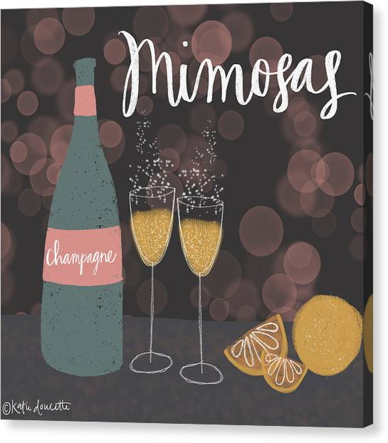 Mimosa Canvas Print - Mimosas by Katie Doucette