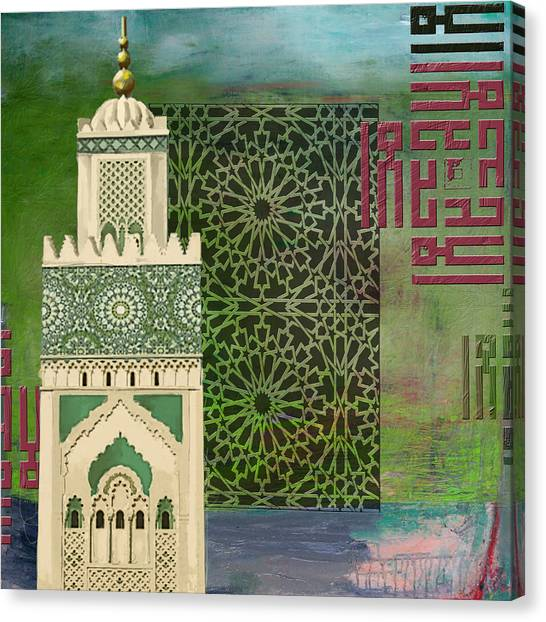 Moroccon Canvas Print - Minaret Of Hassan 2 Mosque by Corporate Art Task Force