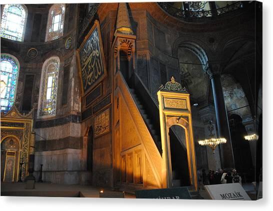 Minbar Of Hagia Sophia Canvas Print by Jacqueline M Lewis