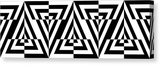 Rectangles Canvas Print - Mind Games 21 Panoramic by Mike McGlothlen