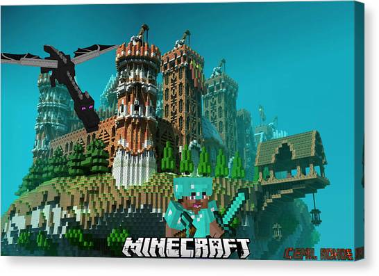 Minecraft Canvas Print - Minecraft Template 2 by Emil Rohde