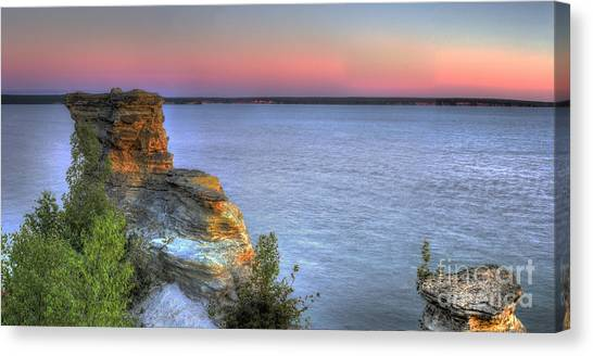 Northern Michigan Canvas Print - Miners Castle At Dawn by Twenty Two North Photography