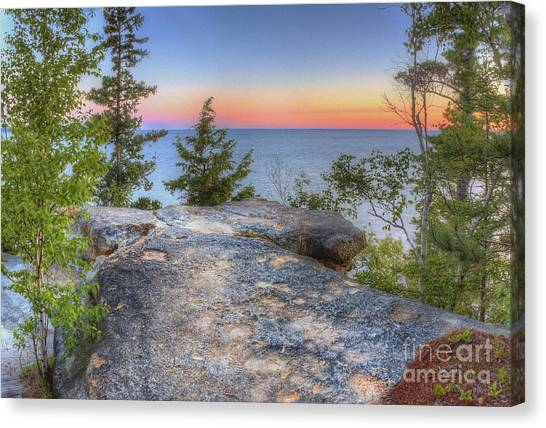 Northern Michigan Canvas Print - Miners Castle At Pictured Rocks by Twenty Two North Photography