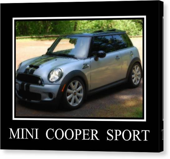 Mini Cooper Sport Canvas Print