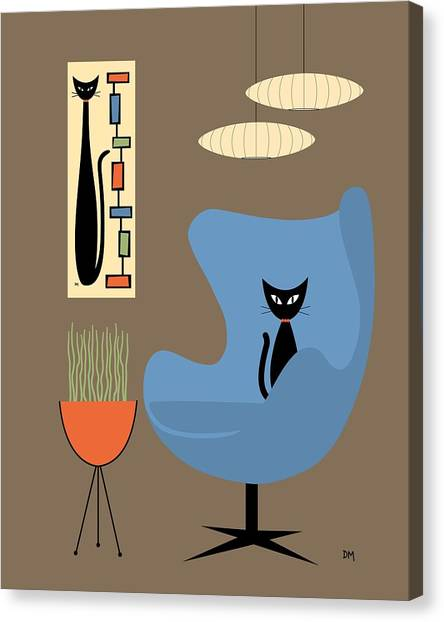 Mini Rectangle Cat Canvas Print