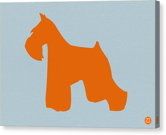 Miniature Canvas Print - Miniature Schnauzer Orange by Naxart Studio